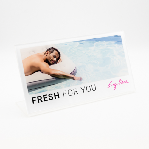 "Aufsteller Ergoline ""Fresh For You"""